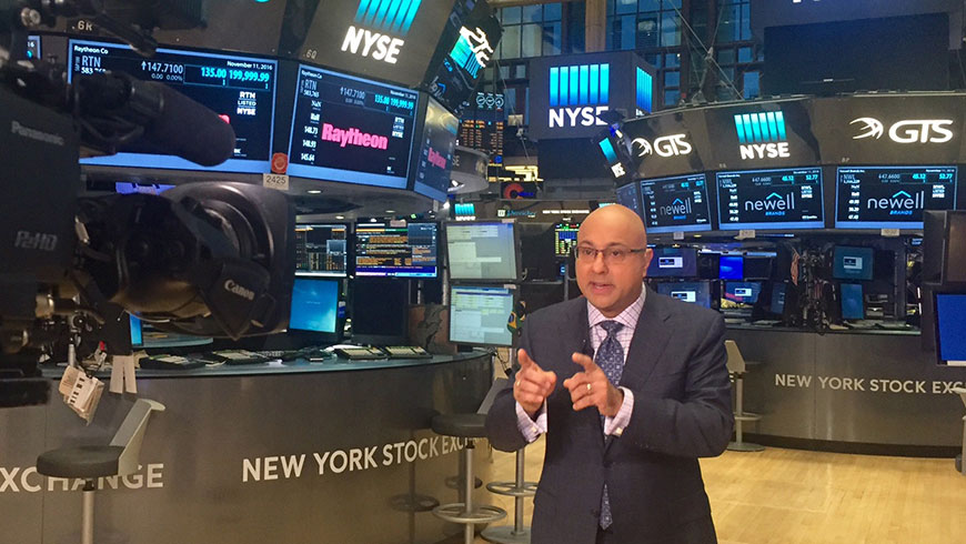 Ali Velshi reporting for NBC News on the floor of the NYSE.