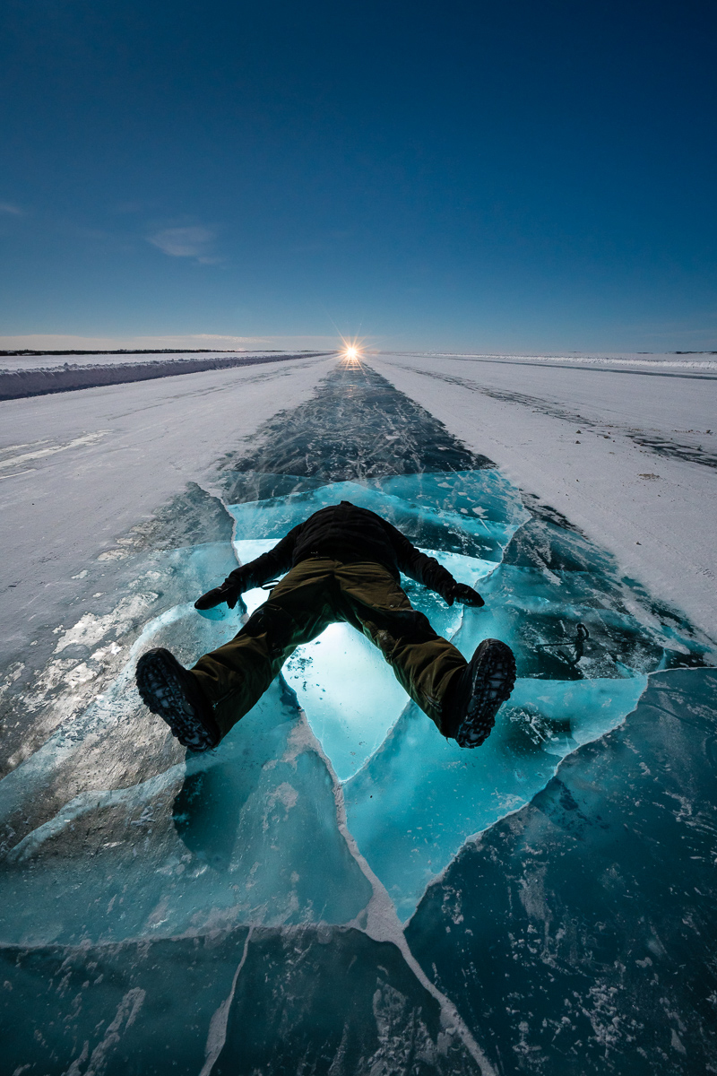 Dettah Ice Road by Gary Clennan