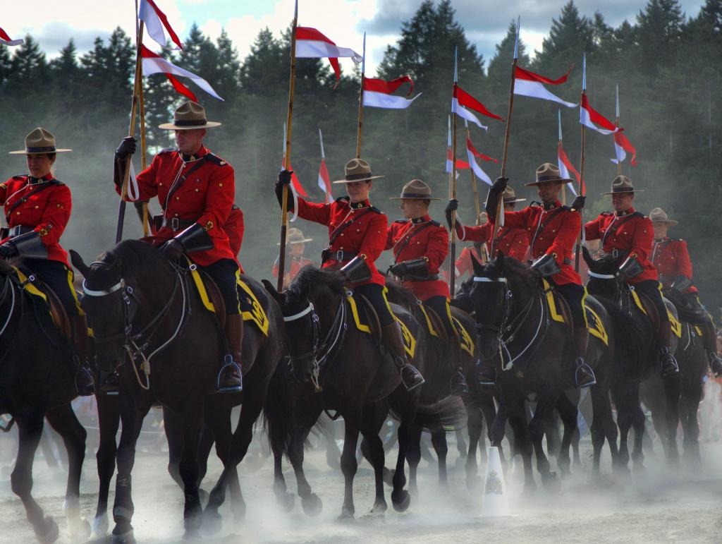 On a dusty parade ground near Victoria, I watched a piece of Canada's living history.What an honour it was!!
