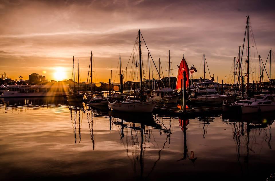 Beautiful sunset in Victoria BC.