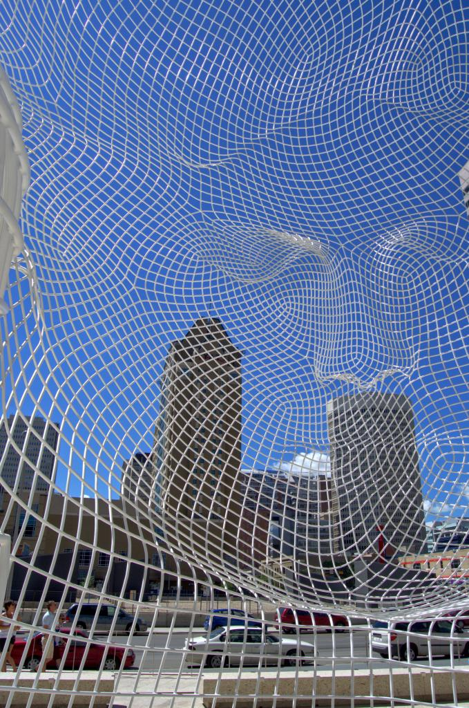 In Calgary, energy efficient modern buildings are viewed through the eyes of a sculptor.....a fusion of technology, science and art.