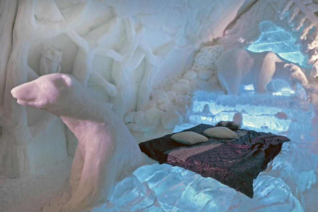 """The Ice Hotel in Québec City celebrates our Canadian identity in """"spades"""".  Few """"do"""" winter better than Canadians - we have to!  The Arctic suite also celebrates our Arctic natural heritage."""