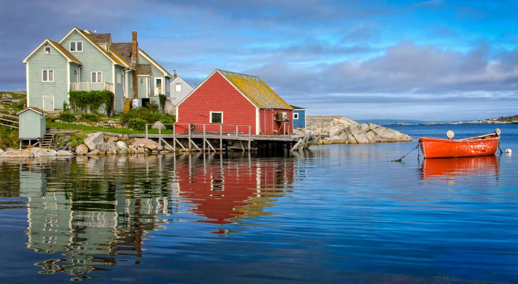 I captured this image while visiting beautiful Peggy's Cove in Nova Scotia.  It's as if time has stood still, and we can imagine life in this tiny fishing village as it was 100 years ago.