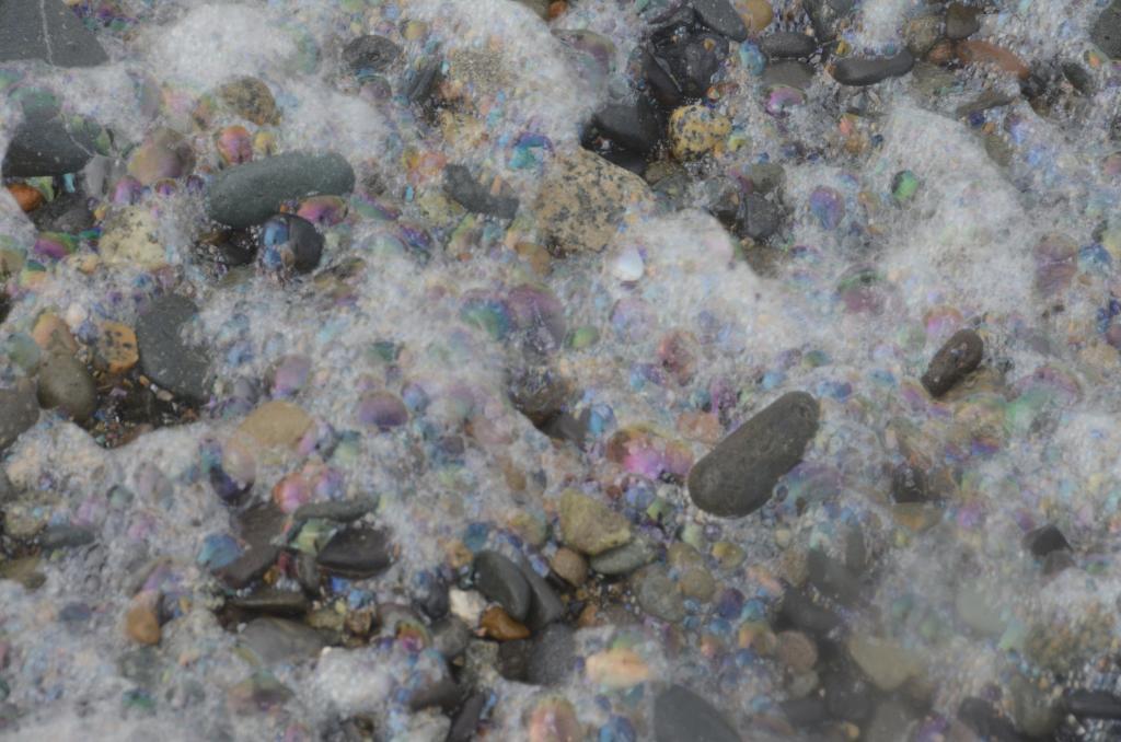 Pebbles on the beach in Haida Gwaii