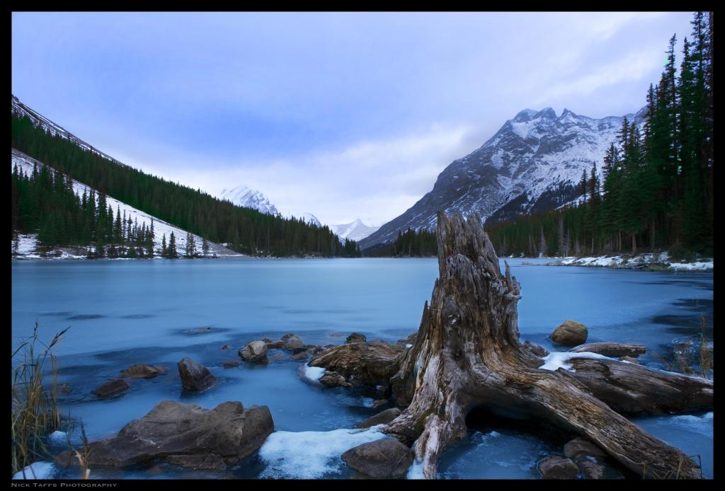 A short hike from the Highwood pass, lies this  pristine high altitude lake. It can get quite busy in the summer, but it is relatively quiet come shoulder season. This lake marks the headwaters for the elbow river, which then feeds into the Bow river in Calgary.