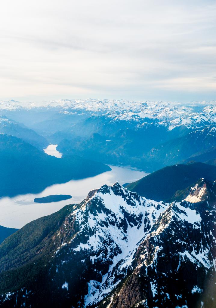 One can sense the power and mightiness of the BC landscapes through this photo. What seems like the beginning of the Fraser river, while flying over the Golden Ears moutain tops, I captured this photo on my way back from Edmonton. The sheer beauty of the mountains and river on a clear spring evening was breathtaking and I'm glad I had my camera with me to document it.