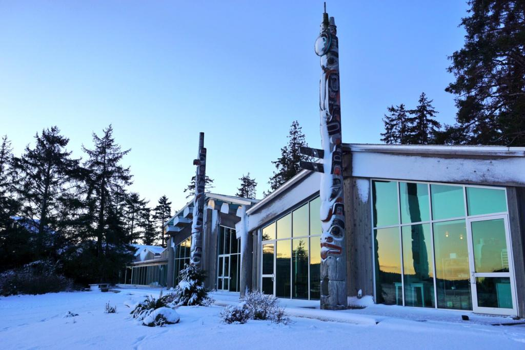 The Haida Heritage Centre is the premier cultural centre and museum of the Haida people. It is located in Skidegate, on Haida Gwaii, in British Columbia.
