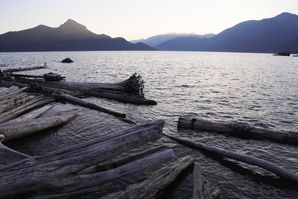 A sunset along the British Columbian Coast