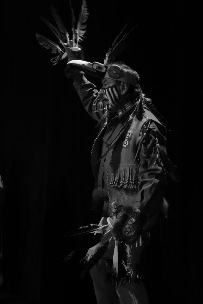 Dancing at the Kwanlin Dun Cultural Centre in Whitehorse, Yukon, this performer embodies the essence of culture and heritage.