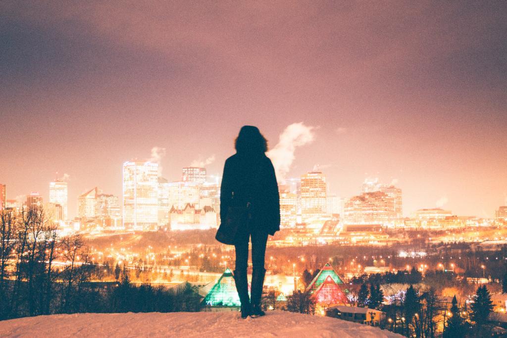 Overlooking my home city of Edmonton