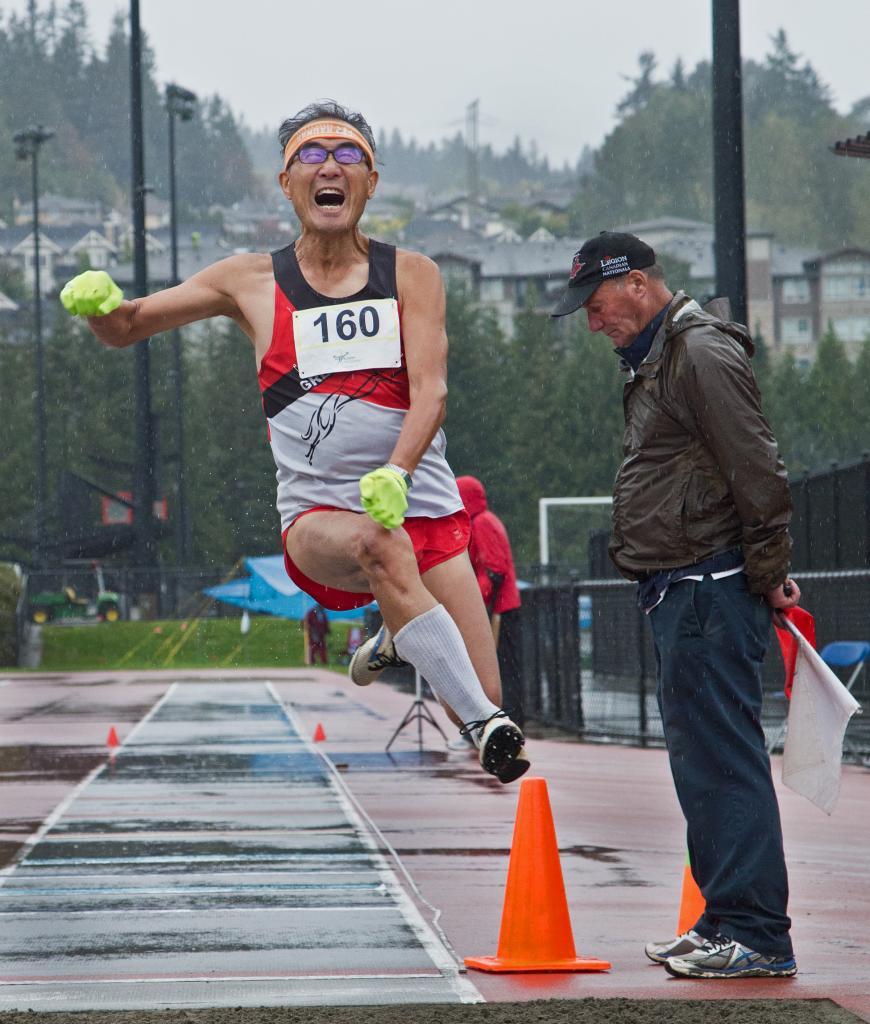As Canadians age it becomes more of a challenge to stay active and healthy . This Greyhound's athlete at the B.C. 55 + Games at Town Centre Stadium in Coquitlam shows although its not easy, you just have to jump in to a healthy lifestyle to reap the rewards.