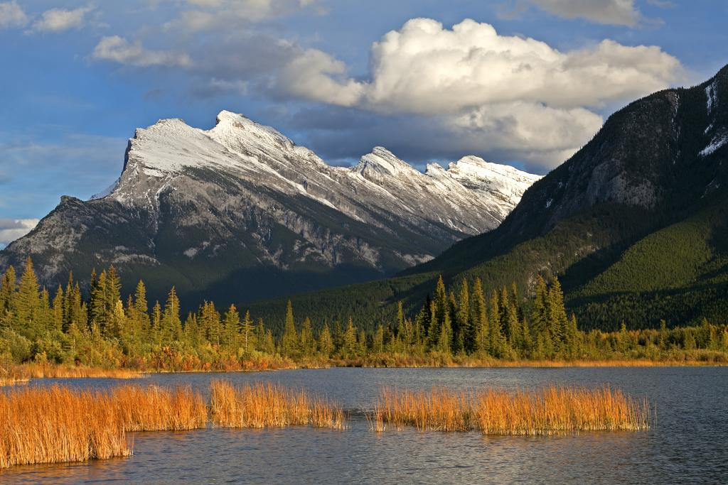 The landscape does not get much more Canadian than snow on Mt. Rundle - a recognizable icon in our first National Park - Banff.