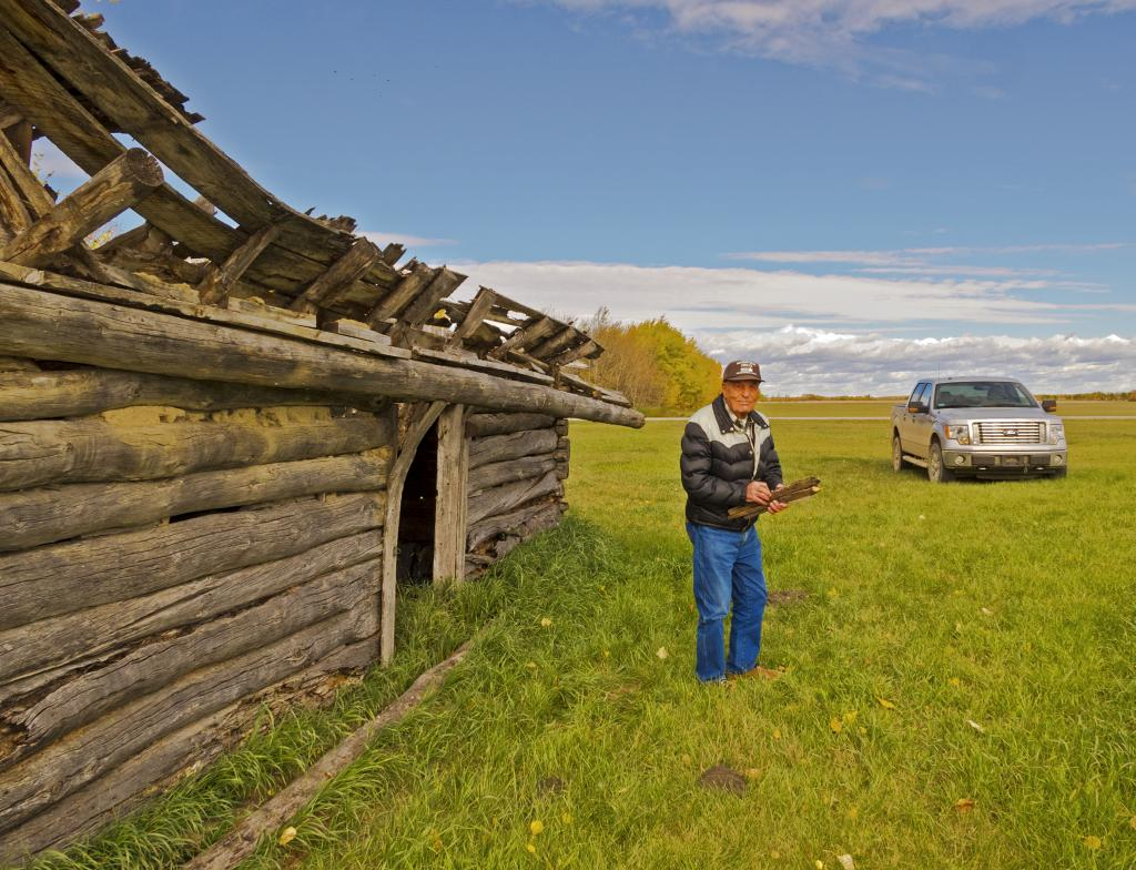 Living my family history of homesteading in Saskatchewan like so many other immigrants, my 91 year old uncle shows me the pony barn for the local Tinson School in Spiritwood Saskatchewan.  He arrived with many more horses under the hood on this day.