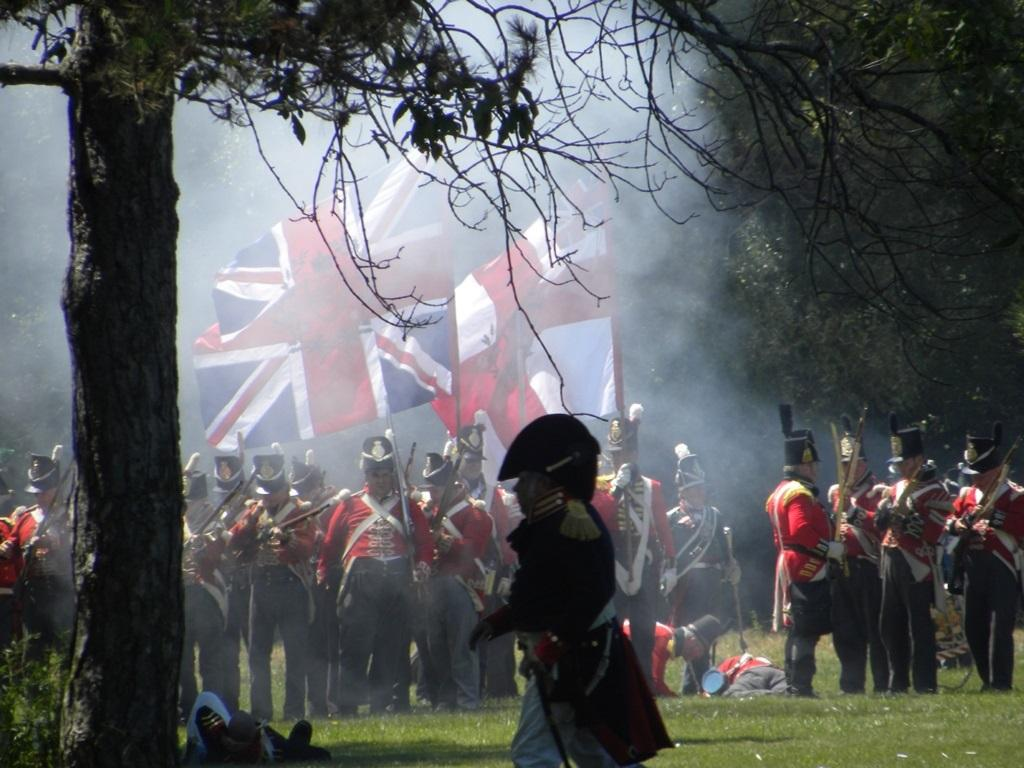 Historical re-enactment at the Old Fort from the War of 1812.