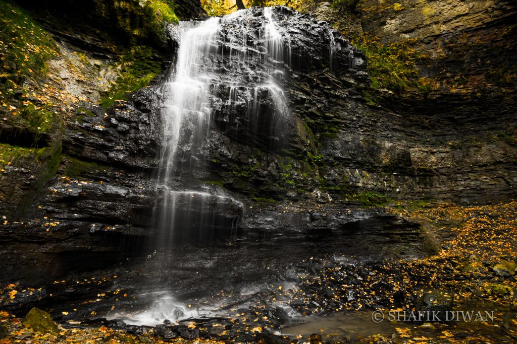 Waterfalls, fall colours and a cool breeze makes for quite a perfect day.