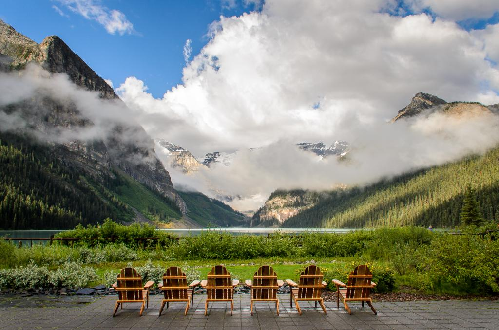 A quintessential Canadain experience!  To sit and relax at Lake Louise and enjoy one of Canada's most beautiful views.