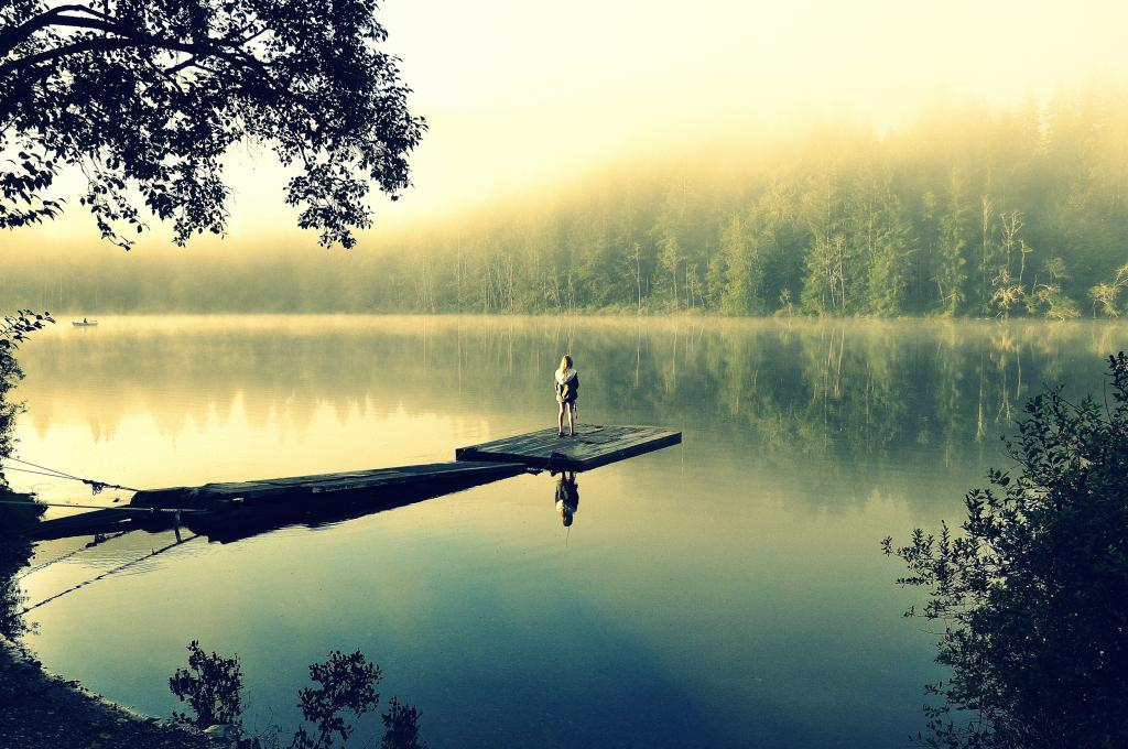 A beautiful foggy September morning on secluded Kissinger Lake, BC. This is my 9 year old daughter who was mesmerized by the stunning beauty and tranquility. She just stood and took it all in...