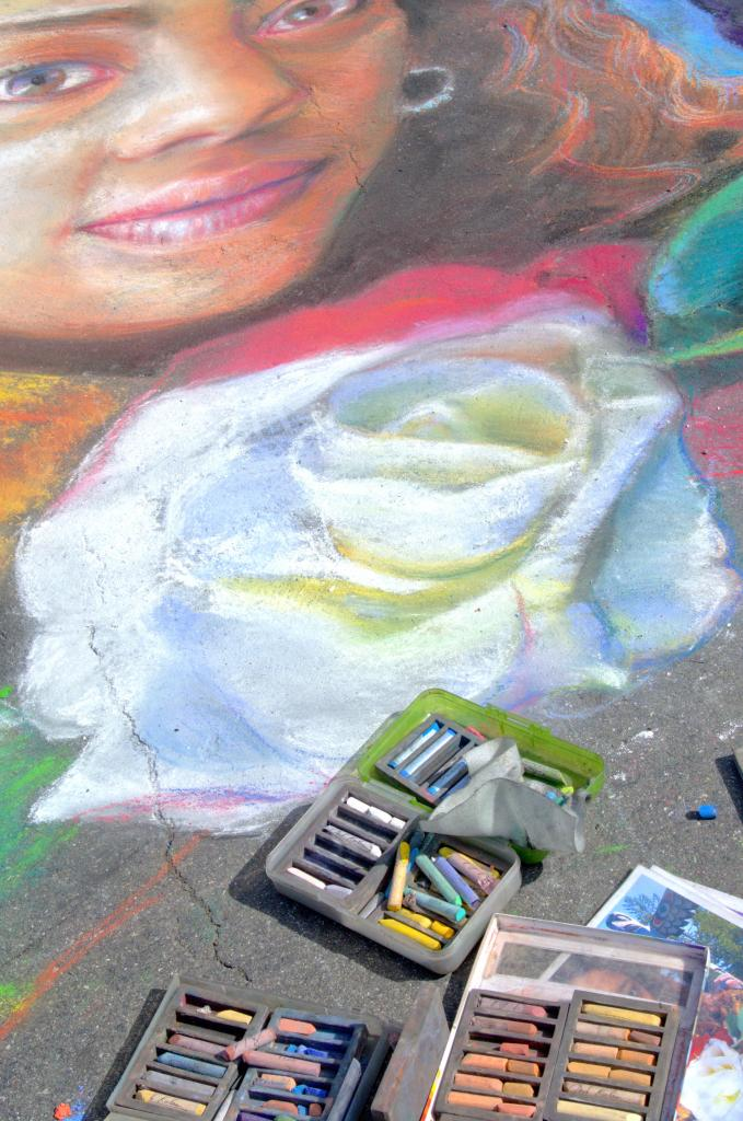 A photo taken at the International Chalk Art Festival in Victoria, BC