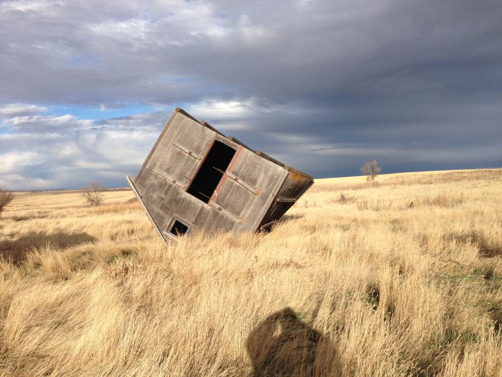 What the wind can cause in the prairie of Saskatchewan.......