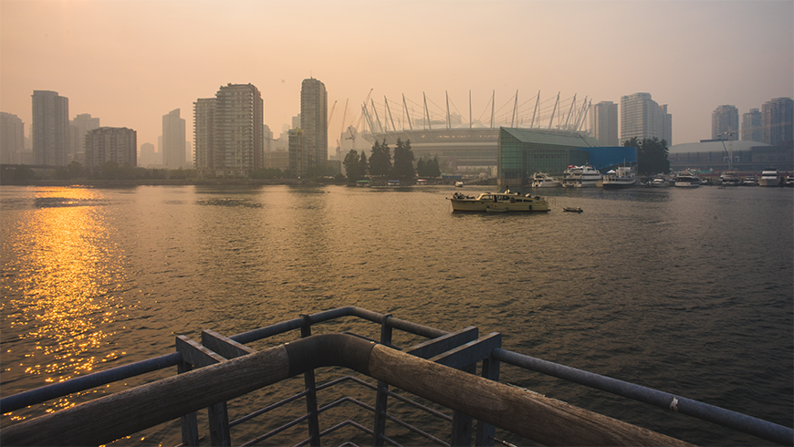 Air pollution in Vancouver.