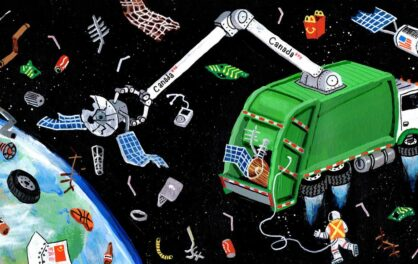 Satellites and space debris are polluting our orbit. More than the stars are at stake